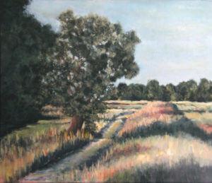 Droga w polu - akryl