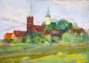 Kościoły w Bralinie - obraz olejny