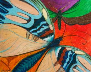 Motyle I - pastela