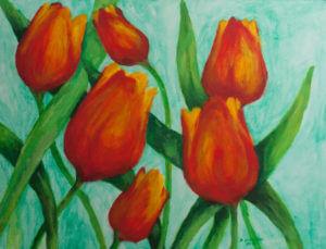 Tulipany - obraz olejny