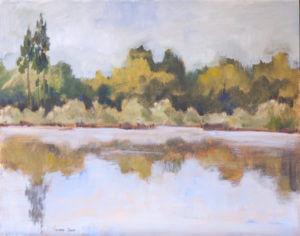 Pejzaż z rzeką - obraz olejny
