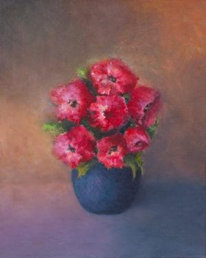 Kwiaty - obraz akryl