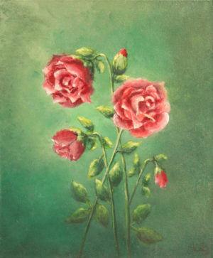 Róże - obraz akryl