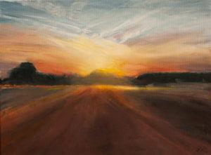 Zachód słońca - obraz akryl