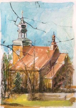 Kościół - akwarela