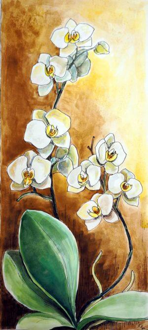 Storczyk 3 - obraz, akryl