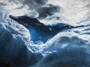 Darek Chramienko Chmury-3 olej na płótnie, 46x61, 2017